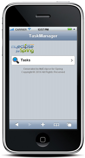 iPhone Dashboard - in MobiOne