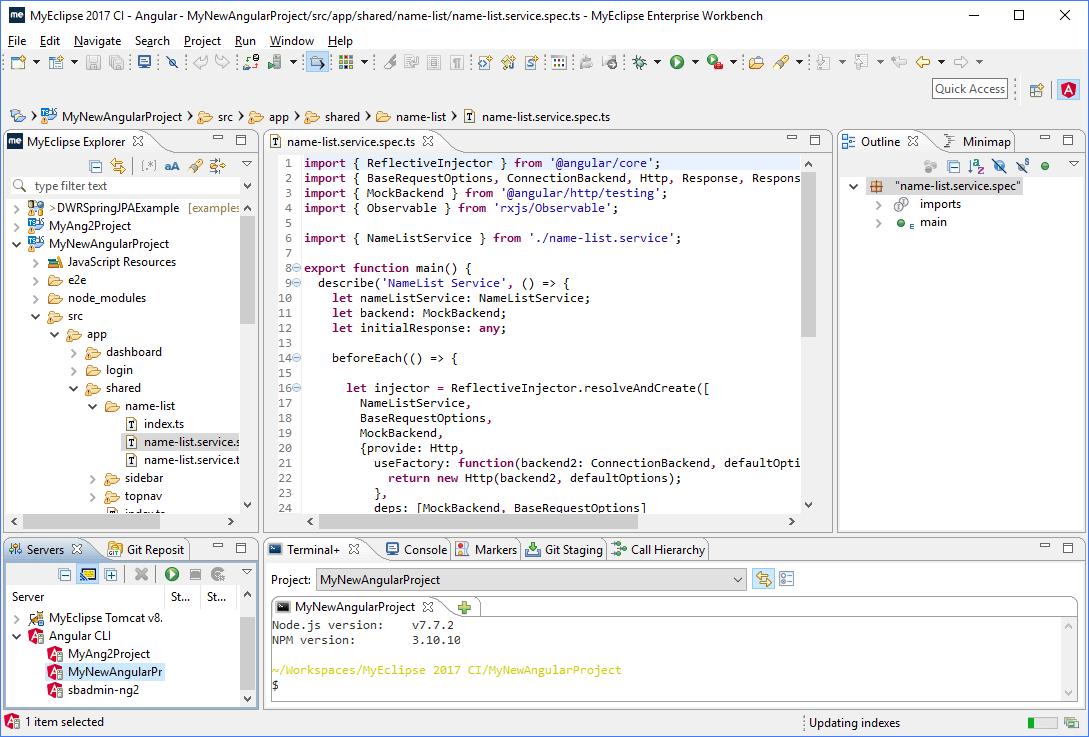 Java IDE for web development